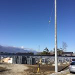 建柱および支線工事完了
